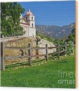 View Of Santa Barbara Mission Wood Print