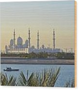 View Of Sheikh Zayed Grand Mosque Wood Print