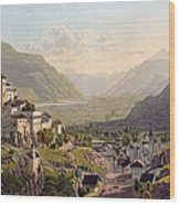 View Of Sion, Illustration From Voyage Wood Print