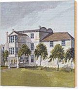 View Of Sir Noel De Carons House, 1809 Wc On Paper Wood Print