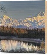View Of Southside Mount Mckinley And Wood Print