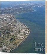 View Of Tampa Harbor Before Landing Wood Print