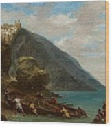 View Of Tangier From The Seashore Wood Print