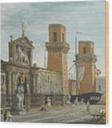 View Of The Arsenale. Venice Wood Print