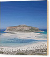 View Of The Balos Beach, Gramvousa Wood Print