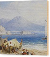 View Of The Bay Of Naples Wood Print
