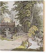 View Of The Cascade At Erlaw, Vienna Wood Print