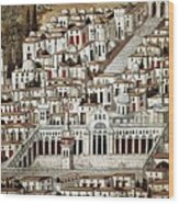 View Of The City De Damascus, Syrian Wood Print