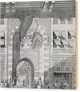 View Of The Door Of Okal Kaid-bey Wood Print