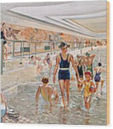 View Of The First Class Swimming Pool Wood Print