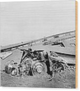View Of The Great Railroad Wreck Wood Print