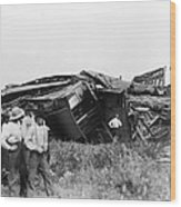 View Of The Great Railroad Wreck, The Wood Print
