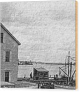 View Of The Harbor Wood Print