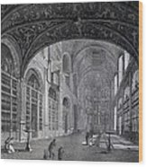 View Of The Interior Part Of The Church Wood Print