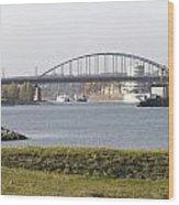 View Of The John Frost Bridge In Arnhem Netherlands Wood Print