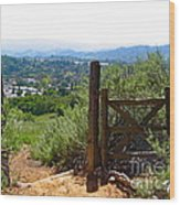 View Of The Ojai Valley Wood Print