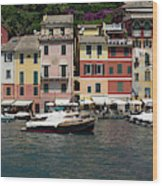View Of The Portofino, Liguria, Italy Wood Print