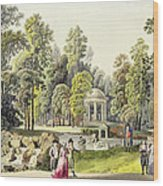 View Of The Temple Of Diana At Erlaw Wood Print