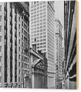 View Of Wall Street Wood Print