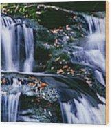 View Of Waterfall, Inversnaid Falls Wood Print