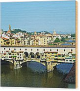 View On Ponte Vecchio From Uffizi Gallery Wood Print