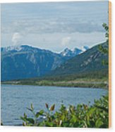 View One Kluane Lake From Cottonwood Campground Near Destruction Bay-yk   Wood Print