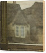 View Out An Old Window Wood Print