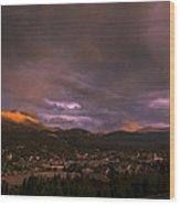 View Over Breckenridge Wood Print