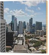 View Over Brickell Miami Wood Print
