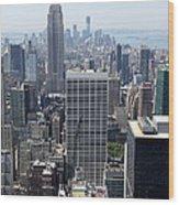 View Over Manhattan I Wood Print