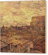 View Over Siena And San Domenico Wood Print