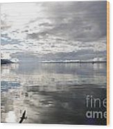 View Over The Ushuaia Bay In Tierra Del Fuego Wood Print