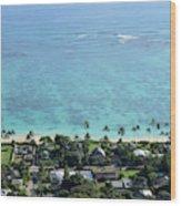 View Overlooking The Coastline Wood Print