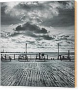 View Point On The Pier Wood Print