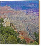 View Seven From Walhalla Overlook On North Rim Of Grand Canyon-arizona Wood Print