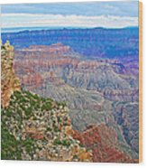 View Three From Walhalla Overlook On North Rim Of Grand Canyon-arizona  Wood Print