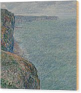 View To The Sea From The Cliffs Wood Print