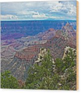 View Two From Walhalla Overlook On North Rim Of Grand Canyon-arizona Wood Print