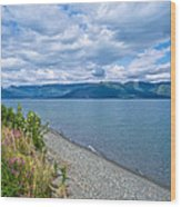 View Two Kluane Lake From Cottonwood Campground Near Destruction Bay-yk Wood Print