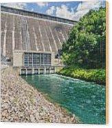 Views Of Man Made Dam At Lake Fontana Great Smoky Mountains Nc Wood Print