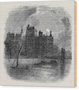 Views On The Embankment, London, 1870 Wood Print