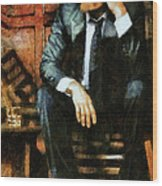 Viggo Posed In A Chair Wood Print