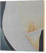 Vignettes - Calla Lily L Wood Print