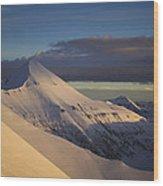 Vihren Peak In A Winter Outfit Wood Print