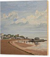 Viking Bay Broadstairs Kent Uk Wood Print by Martin Howard