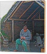 Viking Fisherman At L'anse Aux Meadows-nl  Wood Print
