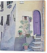 Villa Degli Algeri Tuscany Wood Print