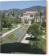 Villa Ephrussi De Rothschild And Garden Wood Print