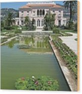 Villa Ephrussi De Rothschild With Reflection Wood Print