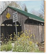 Village Bridge Waterville Vermont Wood Print